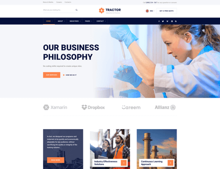 Bold & Strong Homepage